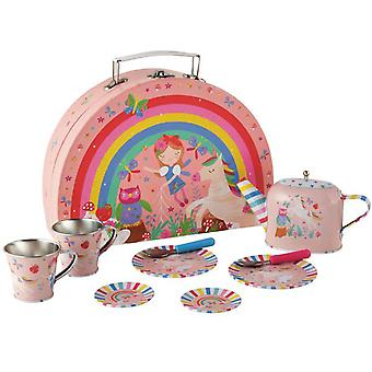 Childrens rainbow tea set