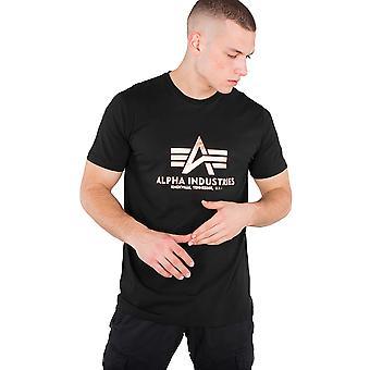 Alpha Industries Men's T-Shirt Basic Foil Print