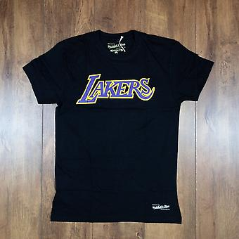 Mitchell & Ness Nba Los Angeles Lakers Table Top Wordmark Tee