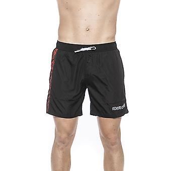 Roberto Cavalli Mäns svarta simma Shorts