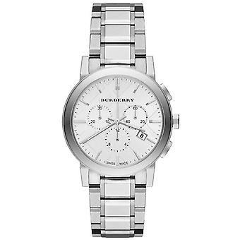 Burberry BU9750 City Chronograph Hopea Dial Ruostumaton teräs Ladies Watch