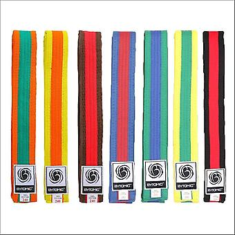 Bytomic coloured stripe martial arts belt