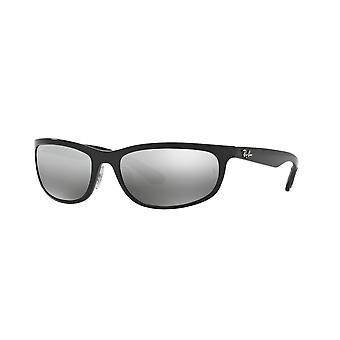 Ray-Ban RB4265 601/5J Błyszczące czarne/spolaryzowane szaro-srebrne okulary lustrzane
