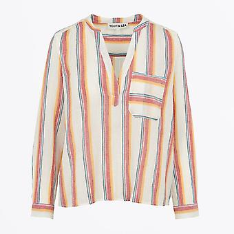 Teoh & Lea - Multicoloured Striped Blouse