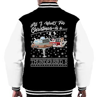 Thunderbirds all I Want For Christmas is Thunderbird 5 Men's Varsity Jacke