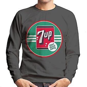 7up 40s Logo Your Thirst Away Men 's Sweatshirt 7up 40s Logo Your Thirst Away Men 's Sweatshirt