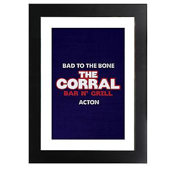The Corral Bar N Grill Terminator 2 Framed Print