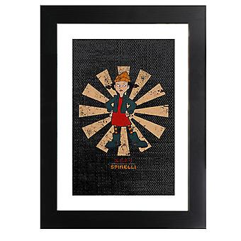 Spinelli Retro Japanese Recess Framed Print