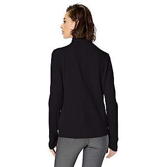 Essentials Women's Studio Terry chaqueta de manga larga con cremallera completa, grafito, S