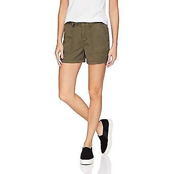العلامة التجارية - طقوس يومية Women's Tencel Patch-Pocket Short, Olive, 12