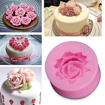 Diy Baking Fondant Silicone Rose Mold - Rose Flower Chocolate Wedding Cake