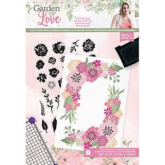 Crafter's Companion Garden of Love Floral Bouquet Clear Stamps