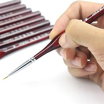 Professional Line Disegno Penna/Mano Dettaglio Pennelli Pittura - Wolf Hair Tip Fine Detail Oil Painting Art Brushes