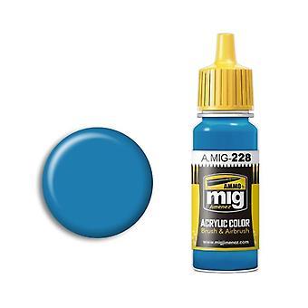 Ammo by Mig Acrylic Paint - A.MIG-0228 FS 35164 Intermediate Blue (ANA 608) (17ml)