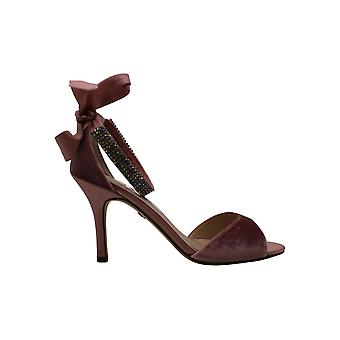 Nina Womens Vinnie Satin Peep Toe Casual Ankle Strap Sandals