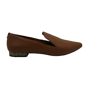 Calvin Klein Womens Elin Leather Closed Toe Loafers