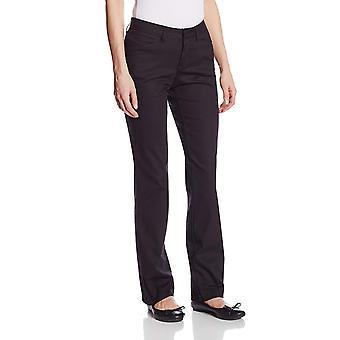 Dickies Women's Curvy Straight Leg Stretch Twill Pant, Black, 10 Regular