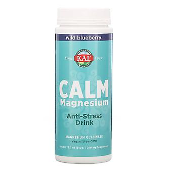 KAL, Kalm Magnesium, Anti-Stress Drink, Wild Blueberry, 12.7 oz (360 g)