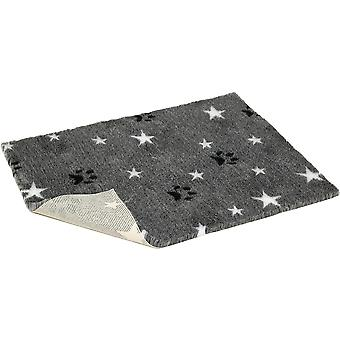 Non-slip Vetbed Mottled Grey With Stars & Paws - 40 inch x 30 inch