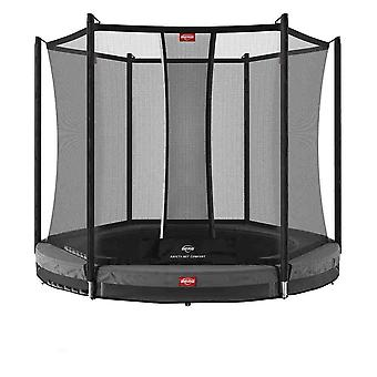 berg grijze favorit inground 270 9ft trampoline en vangnet comfort