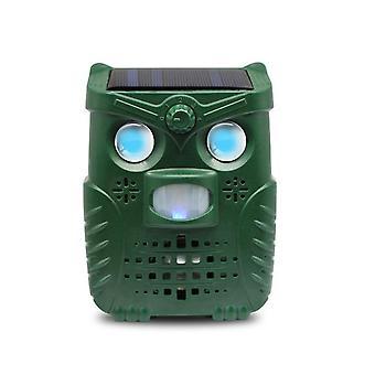 Garden Solar Powered Ultrasonic Outdoor Animal Repeller - Motion Sensor Flash Light Dog Cat Raccoon Rabbit Animal Dispeller