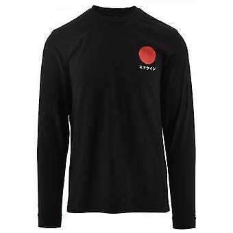 Edwin Black Long Sleeved Japans Sun T-shirt