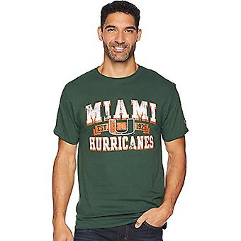 Champion College mænd ' s Miami Hurricanes Jersey tee mørkegrøn lille