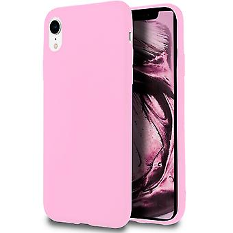 Soft Shell voor iPhone XR in TPU Silicon Pink