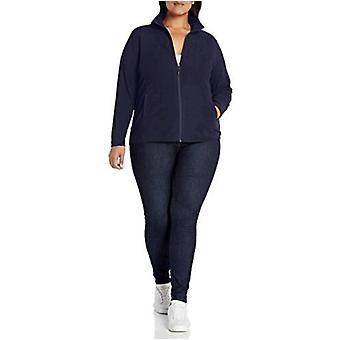 Essentials Frauen's Plus Size Full-Zip Polar Fleece Jacke, Marine, 2X