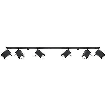 Sollux MERIDA - 6 Light Spotlight Bar Schwarz, GU10