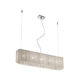 Ontwerp hanglamp Cloud Chrome 5-lampen