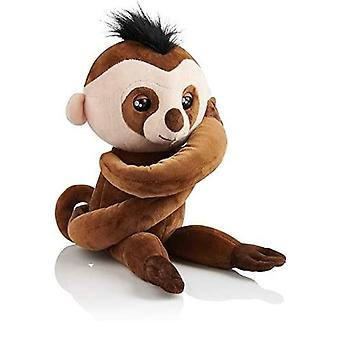 Fingerlings Hugs Kingsley The Advanced Interactive Sloth Plush Toy Brown