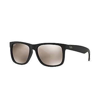 Ray-Ban Justin RB4165 622/5A Rubber Black/Light Brown Gold Mirror Sunglasses