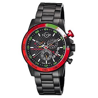 GV2-kehittäjä: Gevril Men's 9907 Scuderia Black IP Stainless Steel Date Wristwatch