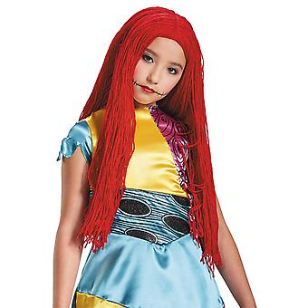 Sally The Nightmare Before Christmas Long Red Yarn Child Girls Costume Wig