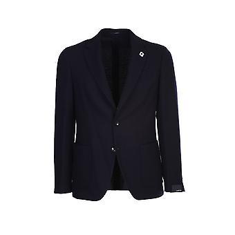 Lardini Im934aima55522850 Men's Blue Wool Blazer