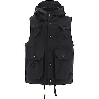 Engineered Garments 20f1c004wl003 Men's Black Cotton Vest