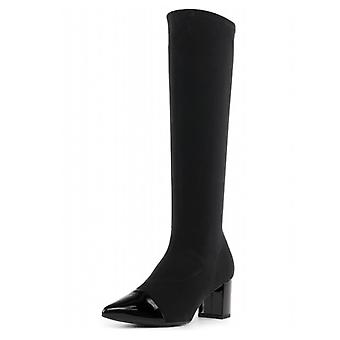Peter Kaiser Bettina Pull On Stretch Knee High Boots In Black
