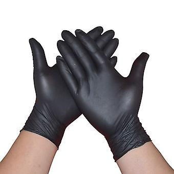 Black Nitrile Gloves, Waterproof, Allergy Free Safe Kitchen/rubber/work Gloves