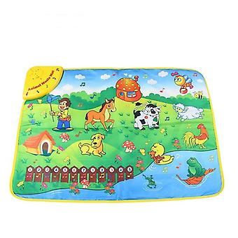 Music Mat, Farm Animal Theme Piano Juguete Brinquedos