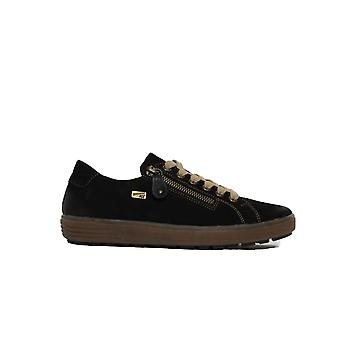 Remonte D4400-02 Black Leather Womens Casual Trainers
