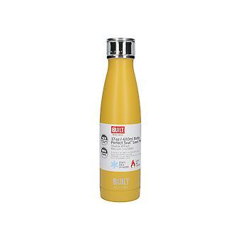 Built Double Walled Water Bottle Stainless Steel 17oz Mustard