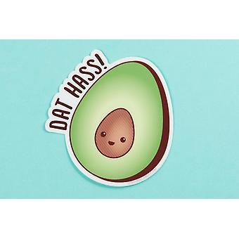 "Avocado Vinyl Sticker Pun ""dat Hass!"""