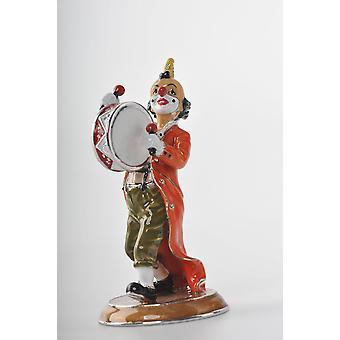 Clown spielt die Trommel Trinket Box