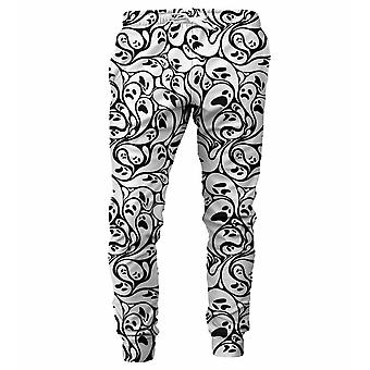 M. Gugu Miss Go Noir et blanc pantalons de survêtement fantôme