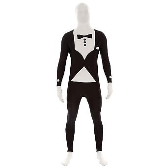 AltSkin Adulte / Kids Full Body Stretch Fabric Zentai Suit - Zippered Back One Piece Stretch Suit Costume pour Halloween - Tuxedo