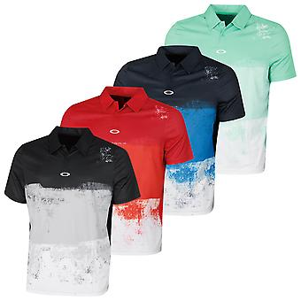 Oakley Hombres Color Block Shade Camiseta Polo de Golf de Manga Corta