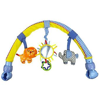 Spädbarns barnvagn/spjälsäng, hängande, härlig mjuk plyschbåge skallror Ringklocka,