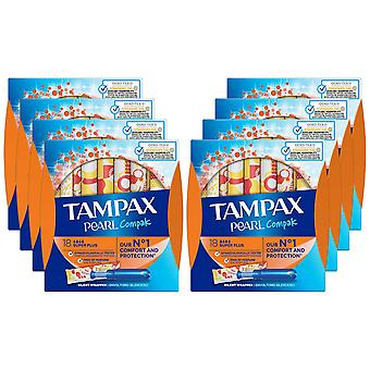 Tampax Protection Applicator, Super Plus Compak, Pack of 8