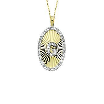 Buchstabe G Gold Halskette